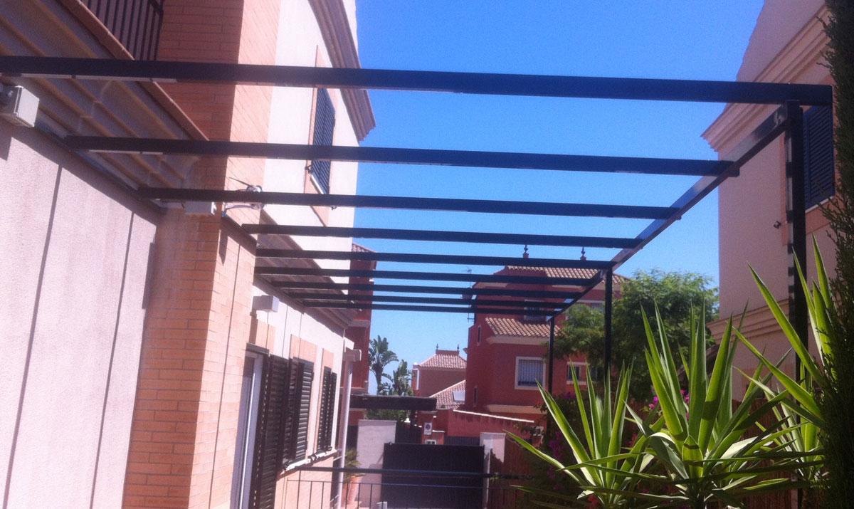 Estructuras para edificios carpinter a met lica tovar for Estructuras aluminio para toldos